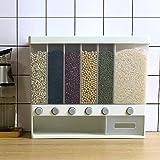 Diaod 10KG Pared Dividida Granos Cereales Arroz contenedores de Almacenamiento de 6 Rejillas de plástico automática a Prueba de Humedad de la Caja sellada de Almacenamiento