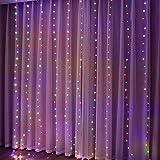XIANGE100-SHOP Decoración navideña de la luz de la luz de la luz de la luz de la Cortina para Las Luces de la Cadena operadas con la batería Decorativa del hogar Guirnarldas