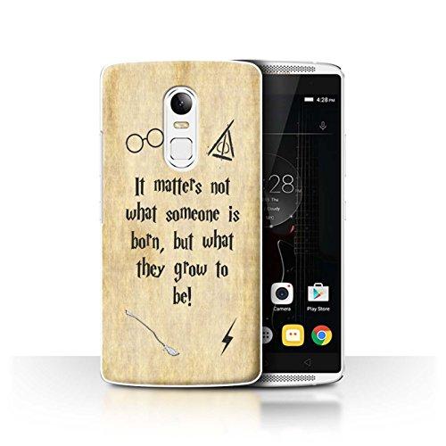 Hülle Für Lenovo Vibe X3 Schule der Magie Film Zitate Born und Grow Design Transparent Ultra Dünn Klar Hart Schutz Handyhülle Case