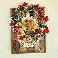 Walory クリスマスリースライト、クリスマスリースライト12インチバッテリー式50LED点灯前人工ウォームライト寝室用クリスマス装飾ライトキッズルームパーティーショーケースモール