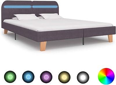 vidaXL - Cama tapizada con LED clásica para cama de ...