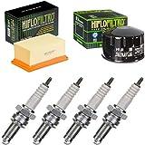 pamoto - Kit di manutenzione per filtro dell'aria, filtro dell'olio, candele d'accensione R 1200 GS 2004-2009