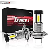 Airymap 2pcs H7 LED Headlight Kit Bulbs, 30000LM, 110W, 6000K White, Super Bright 360 Adjustable Reflector, Sealing IP68 Maximum Heat Dissipation