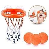 Ellien Bath Toys Basketball Hoop para niños y niños pequeños con 3 Bolas, Juego de Tiro en la bañera para niños pequeños