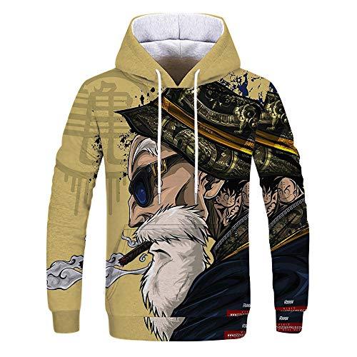 Lustige Meister Roshi 3D Sweatshirts Männer Herbst Winter Hipster Langarm Hoody Hoody Männer/Frauen Anime Dragon Ball Z Hoodies 4XL