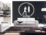 sportler Boxhandschuhe Boxsack Kampf Wandaufkleber Fitness Kickboxen Sport Aufkleber Gym Wohnheim...