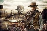 Poster 91 x 61 cm: Pistolenheld des Wilden Westens von