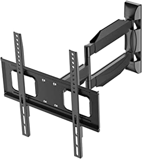 MGO TV Wall Mount for Most 26-55 inch Flat Screen TV, Full Motion TV Mount with Max VESA 400x400 mm and 125 lbs Loading, TV Bracket with Swivel Articulating 21 inch Extension Arm