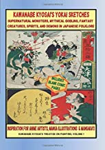 Kawanabe Kyosai's Yokai Sketches supernatural monsters, mythical goblins, fantasy creatures, spirits, and demons in Japanese folklore Inspiration For Anime Artists, manga illustrations & Mangaka's