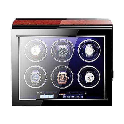ZNND Enrollador Reloj Automático Caja Enrolladora Reloj con Mando A Distancia Almohadas Reloj Ajustables Pantalla Táctil LCD Motor Silencioso (Size : 6+0)
