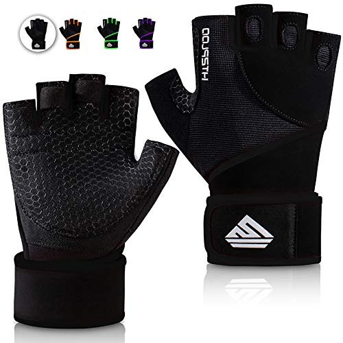 HTZPLOO Workout Gloves Gym Gloves Weight Lifting Gloves for Men Women with Full Palm Pad ,Strong...