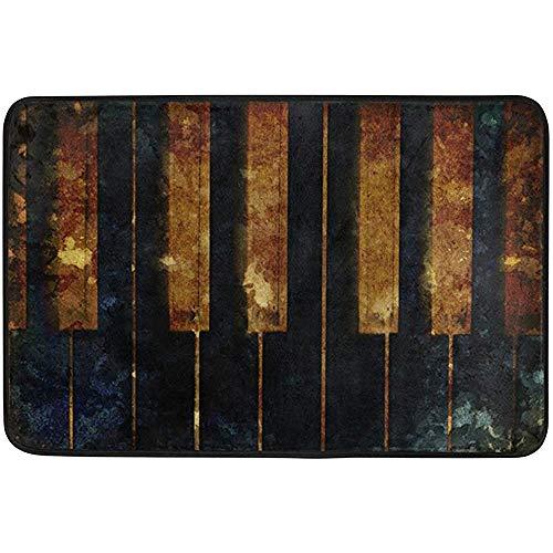 Annays Tapijt Old Piano Vintage Bad Living Voetmat Deurmat Indoor/Outdoor Tuin 40X60cm wasbaar keuken kantoor eetkamer hal Pet Entry tapijten