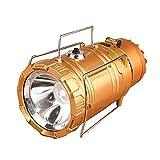 BUXFL Multifunción LED Al Aire Libre Solar con Ventilador De Luz, Luz De...