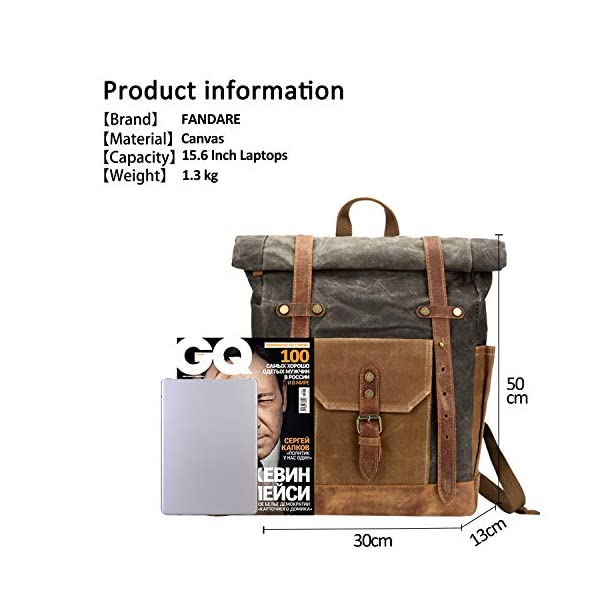 51W Zf02TZL. SS600  - FANDARE Moda Impermeable Bolso de Escuela Viaje Mochila Hombres 15.6 Pulgadas Laptop Backpack Outdoor Camping Gran…