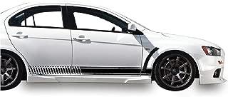 Bubbles Designs 2X Decal Sticker Vinyl Side Racing Stripes Compatible with Mitsubishi Lancer Evolution 10 X GSR MR SE