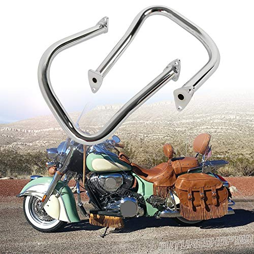 Fits 2021 Challenger Dark Horse Chrome Rear Highway Bars Chieftain Saddlebag Crash Guards For 20 Vintage Dark Horse 19 Roadmaster Limited 14-20 Chief Classic 18 Chieftain Elite