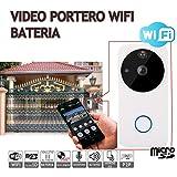 Jandei - Videoportero Con Vídeo 1080P IP 160º, 6 Meses De Batería, Conexión Wifi Con Detección De Movimiento....