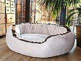 tierlando Lana Hundebett Hundesofa M L XL Velours MEGA DICK 80 100 120cm WEICH Größe: LA3 80cm M | Farbe: 05 Creme