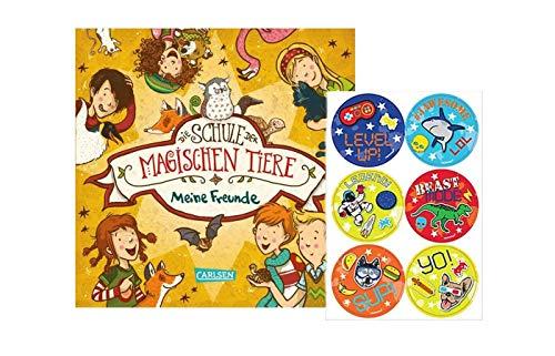 Carlsen Verlag Die Schule der magischen Tiere: Meine Freunde (Freundebuch Schule) + 1. Cooler Kinder - Stickerbogen