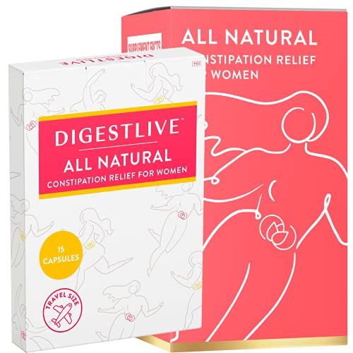 DigestLive Herbal Laxatives for Constipation for Women - 2 Week Supply - Natural Constipation Relief and Daily Supplement for Digestive Function, Colon Cleanse, and Detox - Vegan, Gluten and GMO Free