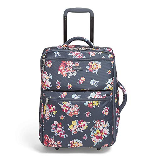 Vera Bradley Women's Lighten Up Small Softside Foldable Rolling Suitcase Luggage, Tossed Posies