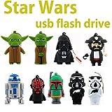Flash Drive ARBUYSHOP Star Wars Darth Vader R2D2 Robot Pen Drive 4GB 8GB 16GB 32GB 64GB Maestro Yoda Pendriver Disco Flash USB Capacidad Real