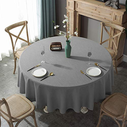 LIUJIU Mantel rectangular de algodón y lino, estilo geométrico, antiarrugas, antidecoloración, lavable a prueba de polvo, para mesa de cocina, comedor, 220 cm