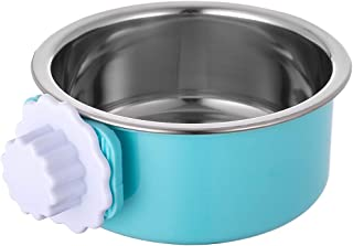 Ordermore Crate Dog Bowl,Stainless Steel Removable Hanging Food Water Bowl Cage Coop Cup for Dogs,Cats,Birds,Small Animals,Holds 14 Ounce
