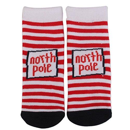 PRIMI 1Paar Kleinkinder Girl Stripe Muster Weihnachten Socken Geschenke (S 1–3)