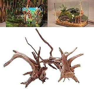 Caxmtu - Adorno de madera para acuario, diseño de tronco de árbol natural, 1