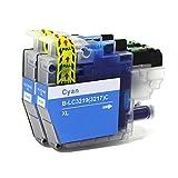 ECS Compatible Tinta Cartucho Reemplazo para Brother MFC-J5330DW MFC-J5335DW MFC-J5730DW MFC-J5930DW MFC-J6530DW MFC-J6930DW MFC-J6935DW LC3219XL (Cian, 2-Paquete)