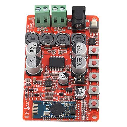 Fafeicy J3J7 50W * 2 Placa amplificadora de audio Bluetooth, Placa de Amplificador de Audio Bluetooth Para Boomboxes Robots Radios