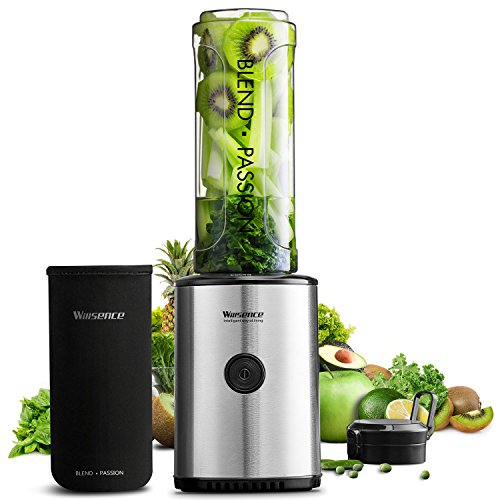 Smoothie Blender 20 oz Personal Blender for Shake and Smoothie, Willsence Single Serve Smoothie Maker with Intelligent Safety Lock, Protective Sleeve, 300W (23,000 RPM/)