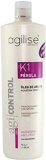 Agi Control K1 Perola Blowout Anti Frizz Natural Treatment 1L | Keratin Treatment | Progressive Brush | Smoothing System - By Agilise Professional