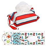 Dispensador portátil de toallitas húmedas para bebés, con estuche para...