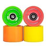 Best Wheels For Longboards - Dadywheels 70mm 78A Longboard Skateboard Wheels with ABEC-9 Review