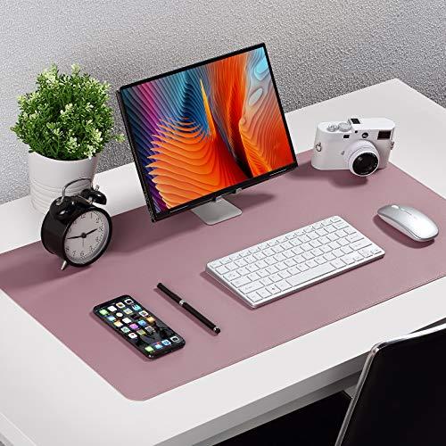 Upgrade Knodel Tischunterlage, Schreibtischunterlage, 80cm x 40cm PU-Leder Tischunterlage, Laptop Tischunterlage, wasserdichte Schreibunterlage für Büro- oder Heimbereich, doppelseitig (Purpur)