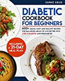DIABETIC COOKBOOK FOR BEGINNERS: 600+ QUICK, EASY AND HEALTHY RECIPES FOR BALANCED MEALS TO LIVE BETTER WITH TYPE 2 DIABETES AND PREDIABETES. INCLUDING A 21-DAY MEAL PLAN