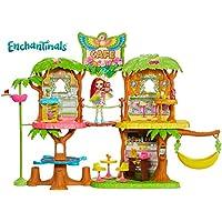 Enchantimals-GFN59 Supercafé de la selva mágica con muñeca Peeki Parrot, multicolor, única (Mattel GFN59)