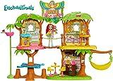 Enchantimals Supercafé de la selva mágica con muñeca Peeki Parrot (Mattel GFN59)