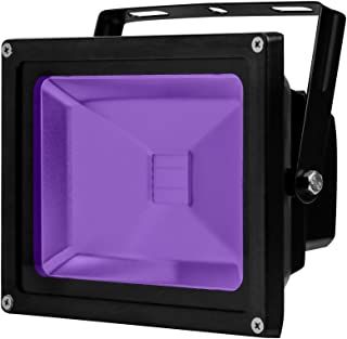 YQL Outdoor UV Black Light,20W Ultra Violet LED Flood Light,Blacklights for DJ Disco Night Clubs,UV Light Glow Bar,Blacklight Dance Party,Stage Lighting,Glow in The Dark Party Supplies,Curing