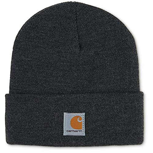 Carhartt Kids' Acrylic Watch Hat, Charcoal Heather (Youth), One Size
