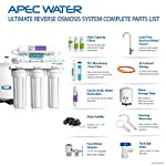 APEC Water Systems ROES-PH75 Essence Series Top Tier Alkaline Mineral pH+ 75 GPD 6-Stage Certified Ultra Safe Reverse… 16 Supreme quality - designed, engineered and assembled in USA to guarantee water safety & your health. This 75 GPD 6-stage system ROES-PH75 is guaranteed to remove up to 99% of contaminants such as chlorine, taste, odor, VOCs, as well as toxic fluoride, arsenic, lead, nitrates, heavy metals and 1000+ contaminants. Max Total Dissolved Solids - 2000 ppm. Feed Water Pressure 40-85 psi US made cartridge uses food-grade calcium from trusted source for safe, proven water pH enhancement. Enjoy ultra-pure drinking water with added calcium minerals for improved ALKALINITY and great taste.