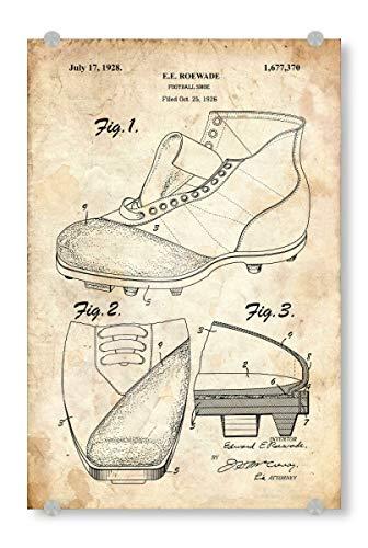 artboxONE Acrylglasbild 120x80 cm Sport Fußballschuhe patent (Antik) - Bild fußballschuhe patent Vintage
