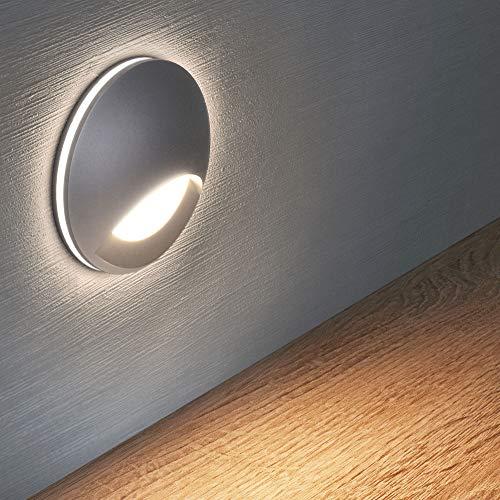 LED Treppenbeleuchtung Treppenleuchte 3W warmweiß Nachtbeleuchtung Nachtlicht Flurleuchte Lampe Wandleuchte GTP581