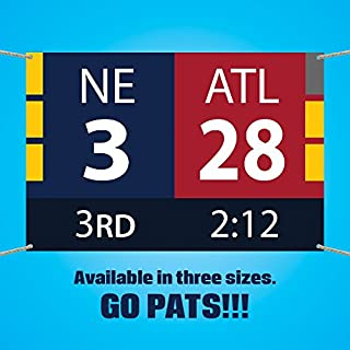 New England Patriots Super Bowl Comeback Scoreboard Vinyl Banner (3x2 feet)