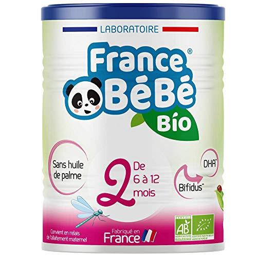 FRANCE BéBé BIO - Lait infantile pour bébé 2ème âge en poudre à partir de 6 mois - Lait fabriqué en France - BIFIDUS - OMEGA 3 - SANS HUILE DE PALME - 400g