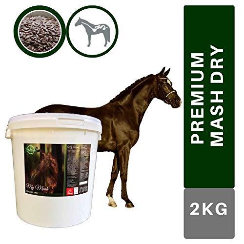 EMMA® Mash Pferd I Omega 3 Ergänzung haferfrei I hoher Anteil Leinsamen geschrotet I alte Pferde bei Zahnproblemen I vorbeugend Verdauungsprobleme Kolik Kotwasser Durchfall beim Pferd 2kg