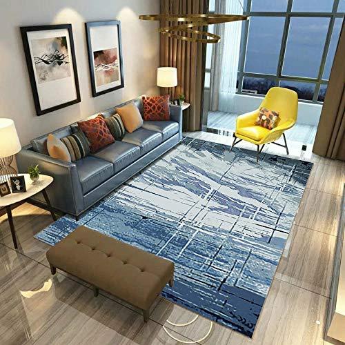 HXJHWB alfombras con Antideslizantes - Interior Moderno Pintura de Tinta Creativa impresión 3D Alfombra Sala de Estar Estudio Antideslizante-El 140CMx200CM