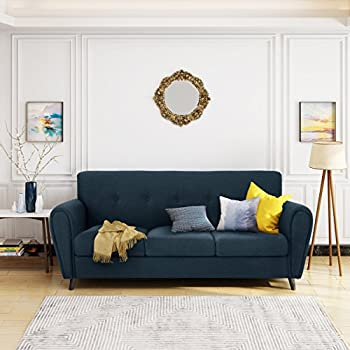 Emily Buttoned Traditional Fabric 3 Seater Sofa